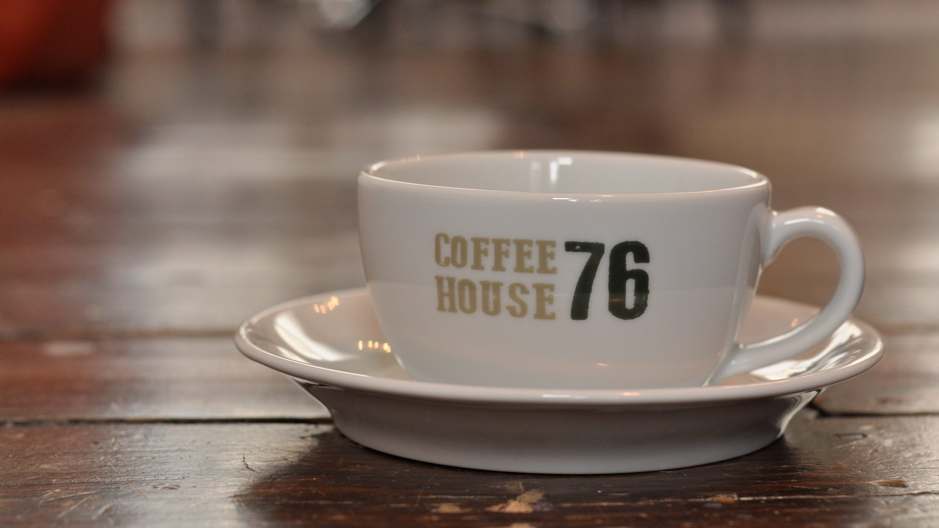 Coffee House 76 branded cup and saucer photograph