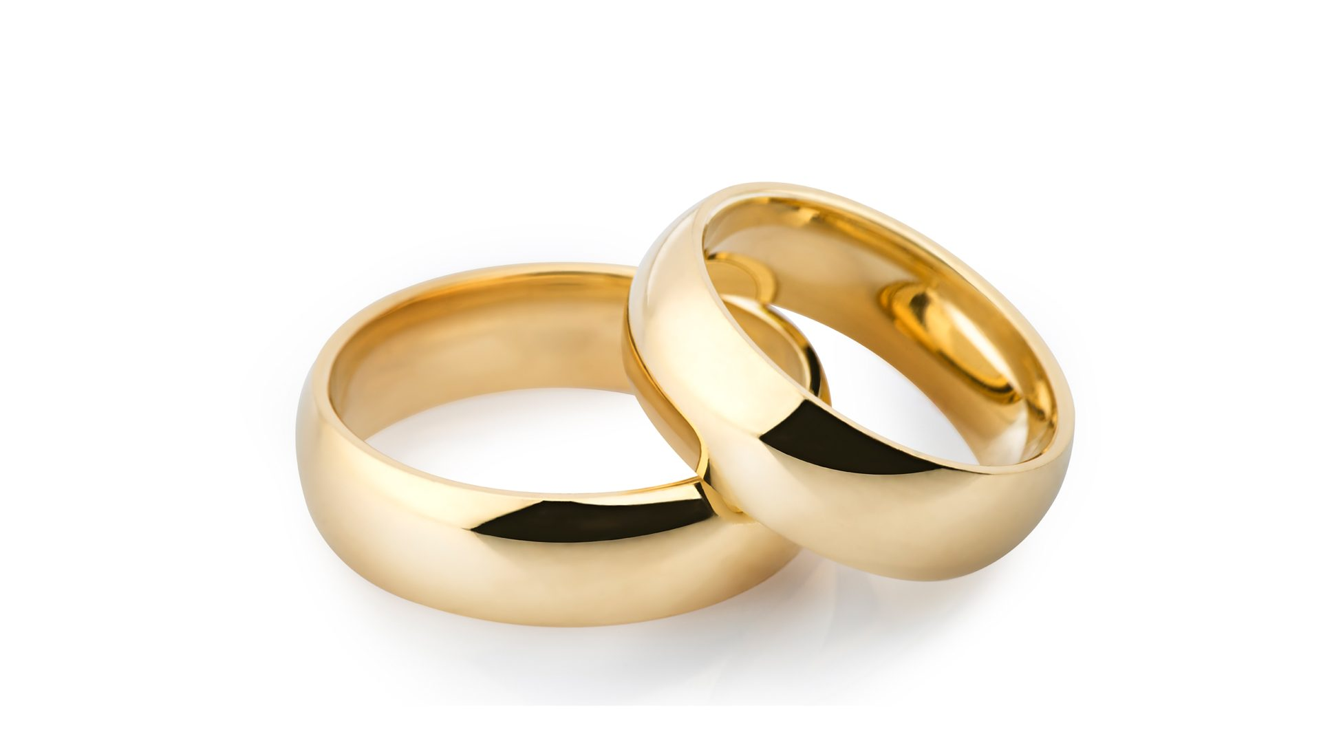 Entwined Gold wedding rings